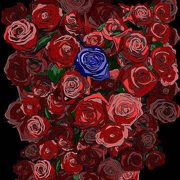 Blue Rose by zhahadun