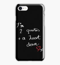 Two Quarters and a Heart Down iPhone Case/Skin