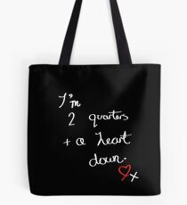 Two Quarters and a Heart Down Tote Bag