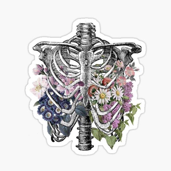 Floral Rib Cage  Sticker