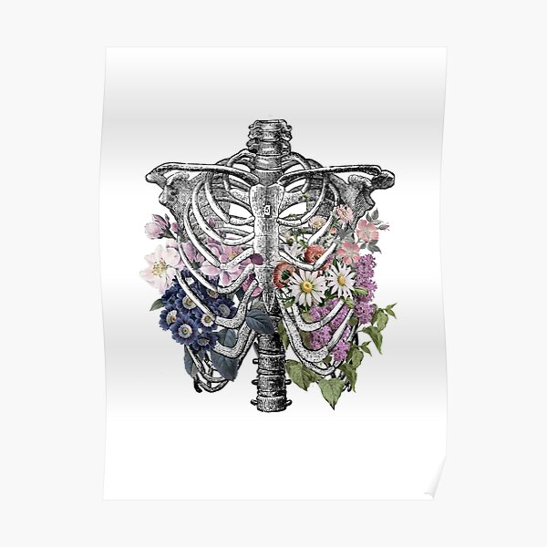 Floral Rib Cage  Poster