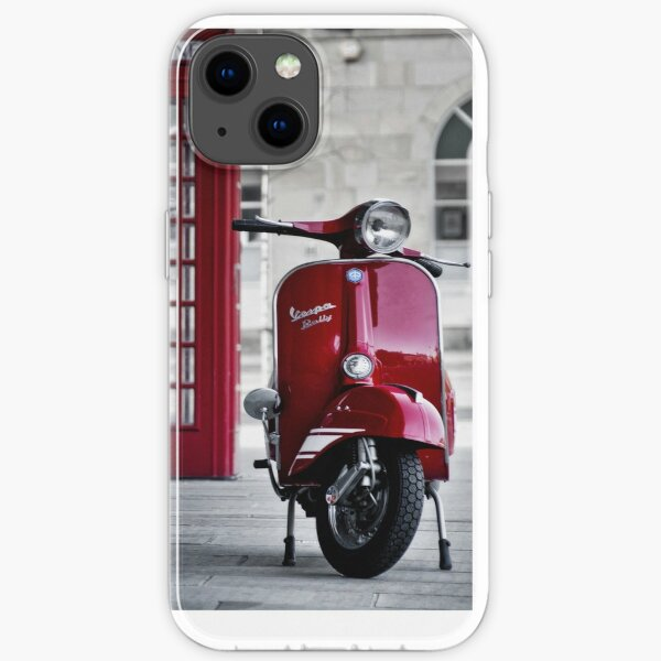 Red Vespa Scooter iPhone Soft Case