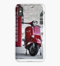 Red Vespa Scooter iPhone Case