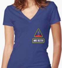 Astronaut Mike Dexter Women's Fitted V-Neck T-Shirt