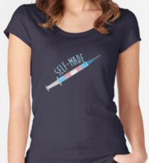 Self-Made Trans Pride  Women's Fitted Scoop T-Shirt