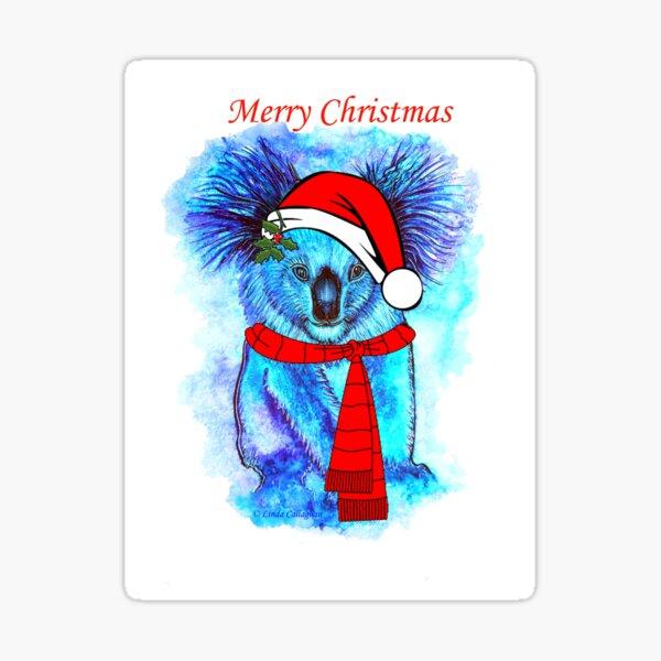 Christmas Koala Sticker