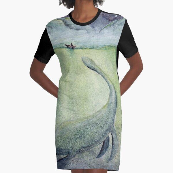 Loch Ness - Sea Monster Series Graphic T-Shirt Dress