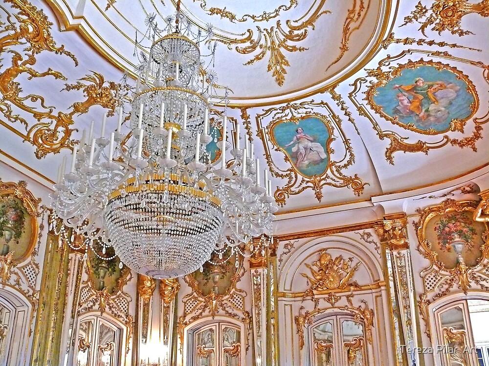 Chandelier. Queluz Palace by terezadelpilar ~ art & architecture