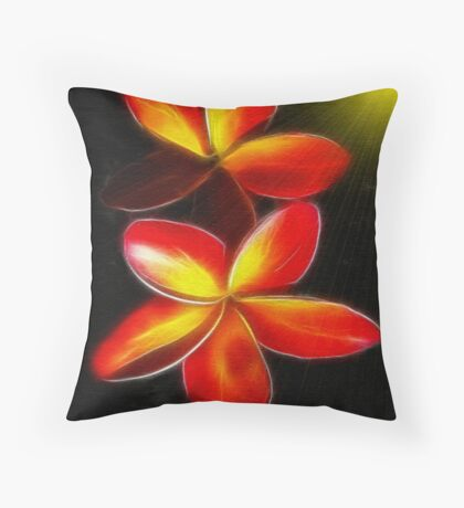 ~ PLUMERIA ~   Throw Pillow