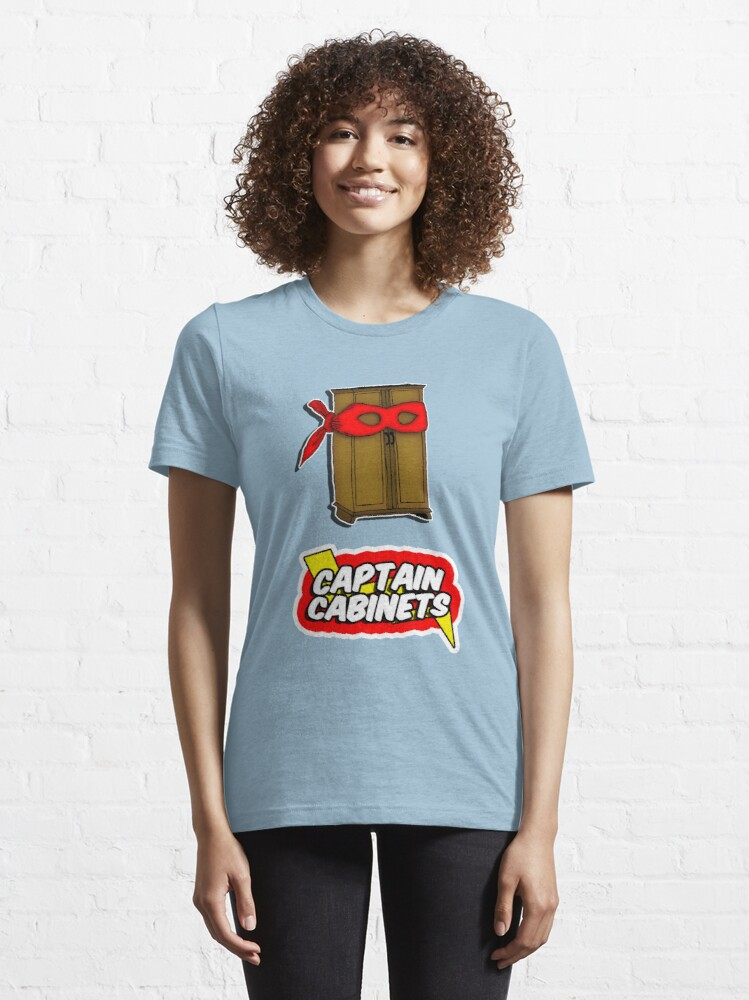 Alternate view of Captain Cabinets Essential T-Shirt