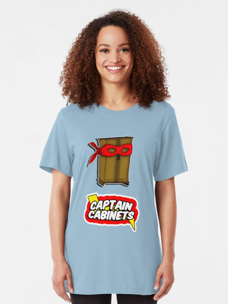 Alternate view of Captain Cabinets Slim Fit T-Shirt