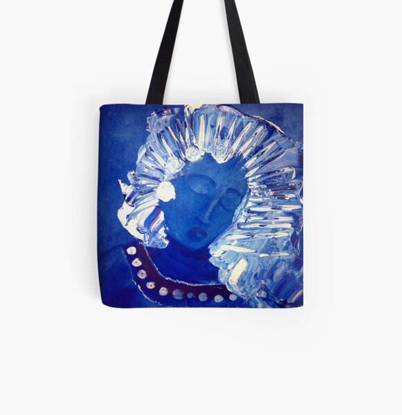 Blue Lady All Over Print Tote Bag