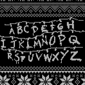 Stranger Things Christmas Pattern by pastaneruda