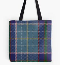 00161 Texas Blue Bonnet Tartan  Tote Bag