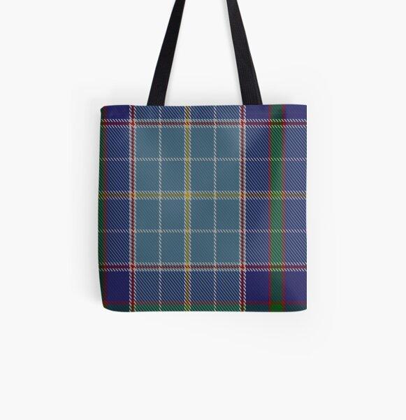 00161 Texas Blue Bonnet Tartan  All Over Print Tote Bag