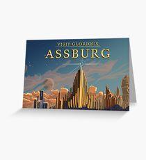 Visit Assburg  Greeting Card