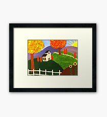 Sunflower Barn  Framed Print