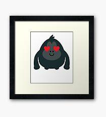 Gorilla Emoji   Framed Print