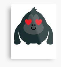 Gorilla Emoji   Metal Print