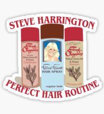 Stranger Things: Steve Harrington's Hair Routine  Sticker