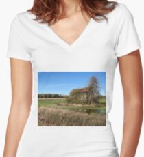 Summer Rental - Holly Hill, SC Women's Fitted V-Neck T-Shirt