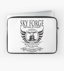 SkyForge - Where Legends Are Born In Steel Laptop Sleeve
