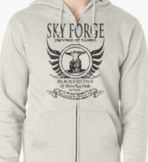 SkyForge - Where Legends Are Born In Steel Zipped Hoodie