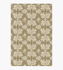 Deep Dull Gold white lace Photographic Print