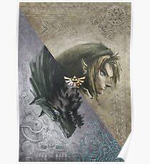 Póster Legend of Zelda Twilight Princess Cover Art