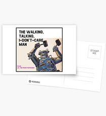 The Walking, Talking, I-Don't-Care Man! Postcards