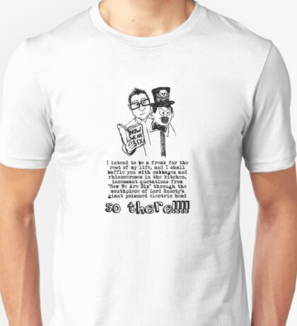I shall baffle you with cabbages and rhinoceroses in the kitchen T-Shirt