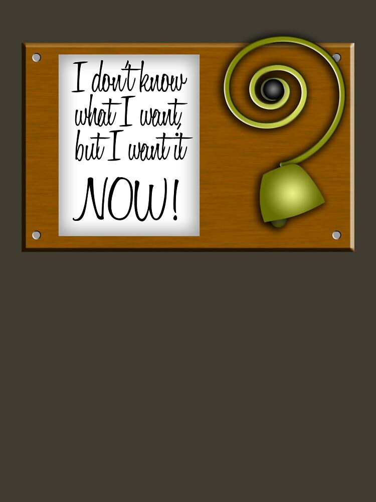 I don't know what I want, but I want it NOW! by brianftang