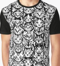 Kittens - Classic Black and White Graphic T-Shirt