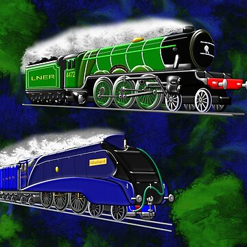 Steam Locomotives The Flying Scotsman and Mallard winner of the fastest steam locomotive by ZipaC