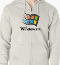 windows 95 shirt Zipped Hoodie