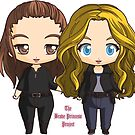 The 100 Clarke Griffin and Abby Griffin Chibi Art-Mommy and Daughter by Evelyn Ulrich