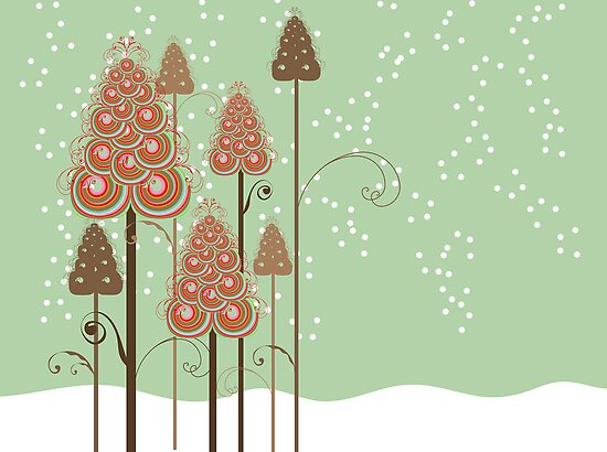 Whimsical Christmas Trees by fatfatin