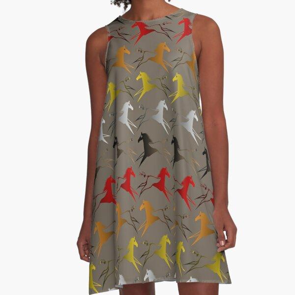 Four direction War Horse A-Line Dress