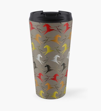 Four direction War Horse Travel Mug