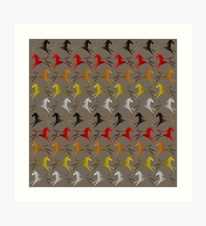 Four direction War Horse Art Print
