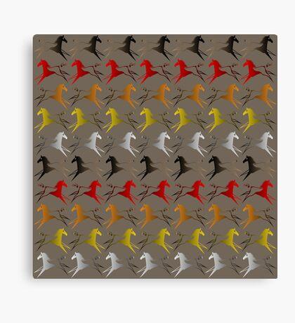 Four direction War Horse Canvas Print