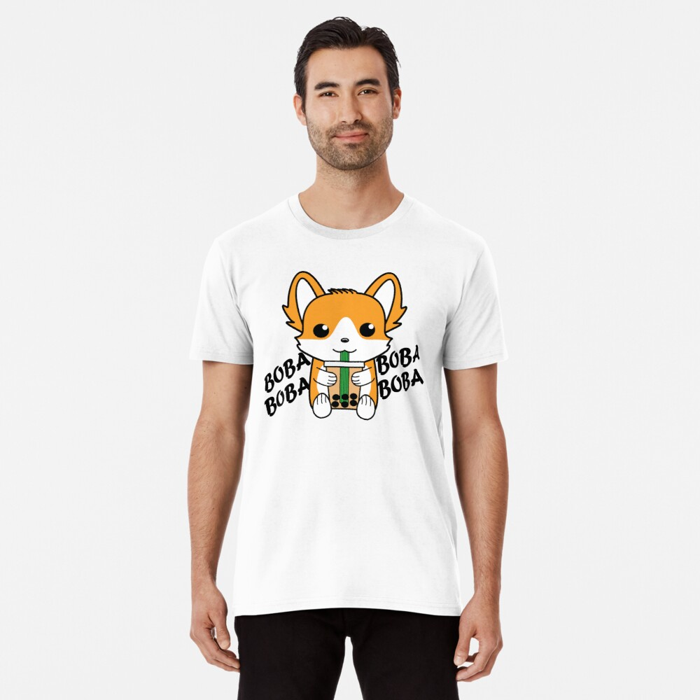 Bubble Tea Corgi Boba Corgi Premium T-Shirt