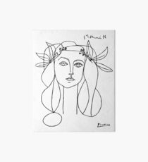 Picasso head of a women framed print Art Board