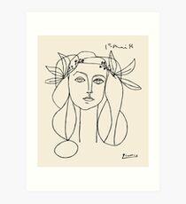 Picasso head of a women framed print Art Print