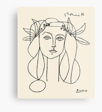 Picasso head of a women framed print Metal Print