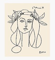 Picasso head of a women framed print Photographic Print