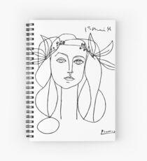 Picasso-Kopf eines Frauen gerahmten Druckes Spiralblock