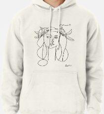 Sudadera con capucha Cabeza de Picasso de un póster de mujer