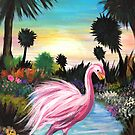 Flamingo Paradise by Adam Santana