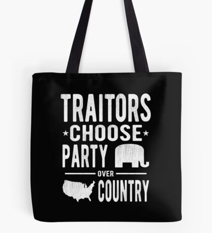 Traitors Party over Country Tote Bag